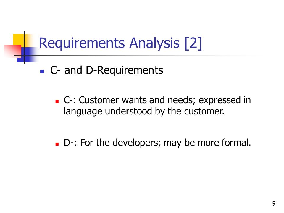Requirements Analysis [1]